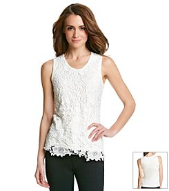 Studio West Floral Lace Tank Top