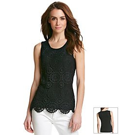 Studio West Lace Tank Top