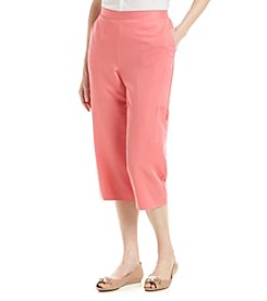 Alfred Dunner® Paradise Island Solid Pull On Capris