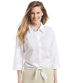Alfred Dunner® Paradise Island Solid Textured Blouse