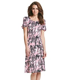 Notations® Abstract Print Dress