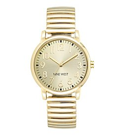 Nine West® Goldtone Expansion Band Watch