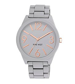 Nine West® Grey Textured Bracelet Watch