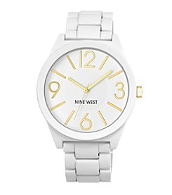 Nine West® White Textured Bracelet Watch