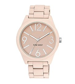 Nine West® Pink Textured Bracelet Watch