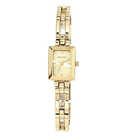 Anne Klein® Goldtone Open Link Bracelet Watch