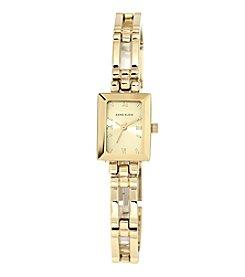 Anne Klein® Goldtone Open Link Bracelet Watch