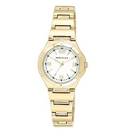 Anne Klein® Goldtone Bracelet Watch with Mother of Pearl Dial