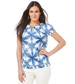 Chaps® Ocean Tie Dye Top
