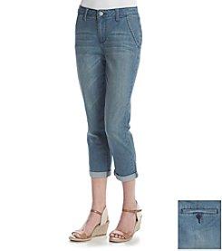 Earl Jean® Trouser Style Cropped Jeans