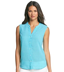 Jones New York Signature® Polka Dot Sleeveless Blouse