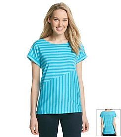 Jones New York Sport® Spliced Stripe Tee