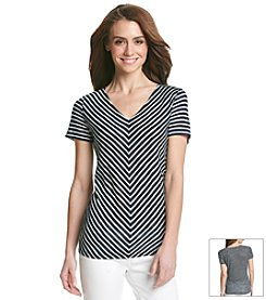 Jones New York Signature® Stripe Slub Tee
