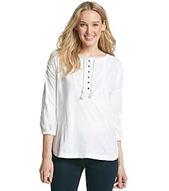 Ruff Hewn Embroidered Yoke Henley