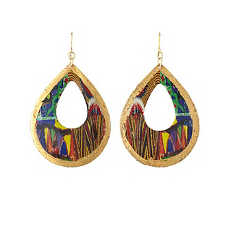Relativity® Multi And Goldtone Painted Teardrop Earrings