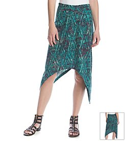 ruff hewn GREY Shark Bite Printed Skirt