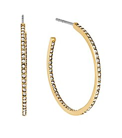 Michael Kors Goldtone Inside/outside Post Hoop Earrings