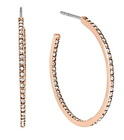 Michael Kors® Rose Goldtone Inside/outside Post Hoop Earrings