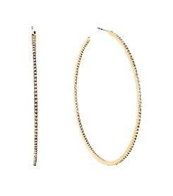 Michael Kors® Goldtone Inside/outside Post Hoop Earrings