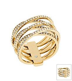 Michael Kors Goldtone Criss Cross Ring
