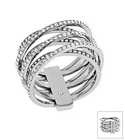 Michael Kors® Silvertone Criss Cross Ring