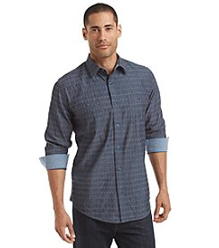 Weatherproof® Vintage Men's Long Sleeve Dobby Denim Woven