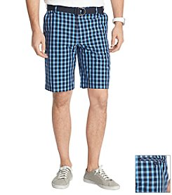 Izod® Men's Flat Front Poplin Gingham Shorts