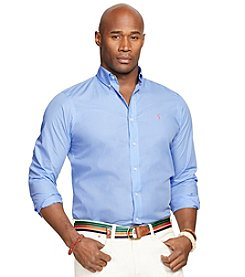 Polo Ralph Lauren® Men's Big & Tall Long Sleeve Poplin Sport Shirt