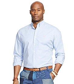 Polo Ralph Lauren® Men's Big & Tall Long Sleeve Gingham Poplin Sport Shirt