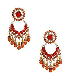 Erica Lyons® Goldtone Her Name Was Lola Convertible Fringe Pierced Earrings
