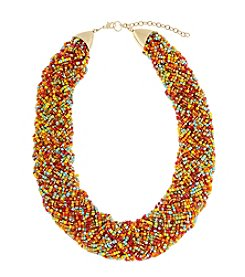 Erica Lyons® Goldtone Her Name Was Lola Braided Seed Bead Short Necklace