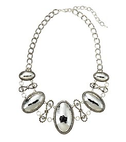 Napier® Silvertone Large Frontal Statement Necklace