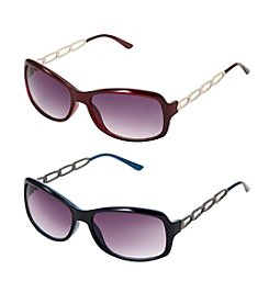 Relativity® Rectangle with Small Chain Sunglasses