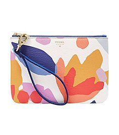 Fossil® Printed Leather Wristlet Pouch