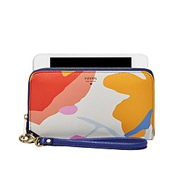 Fossil® Sydney Printed Leather Zip Phone Wallet