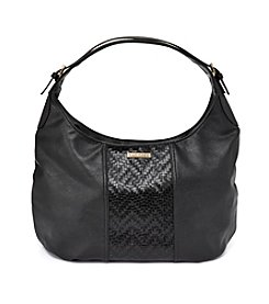Rampage® Woven Round Base Hobo