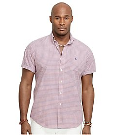 Polo Ralph Lauren® Men's Big & Tall Short Sleeve Checkered Poplin Sport Shirt