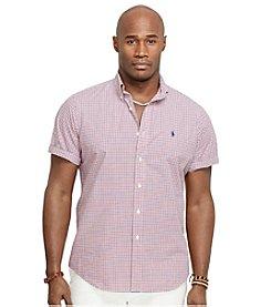 Polo Ralph Lauren® Men's Big & Tall Short Sleeve Checkered Poplin Sport Shirt