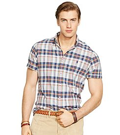 Polo Ralph Lauren® Men's Short Sleeve Madras Plaid Shirt