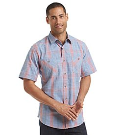 Weatherproof® Vintage Men's Short Sleeve End On End Slub Woven