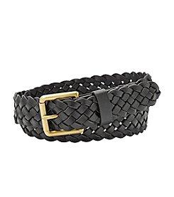 Fossil® Woven Roller Buckle Belt