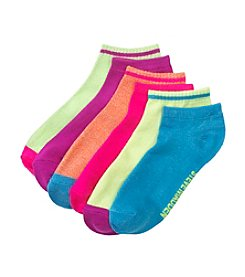Steve Madden 6 Pack Fashion Athletic Marled Low Cut Socks