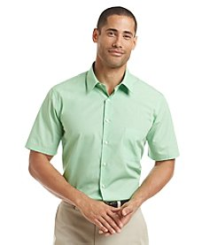 Van Heusen Men's Short Sleeve Poplin Dress Shirt