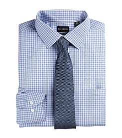Rochester Men's Big & Tall Dobby Check Dress Shirt