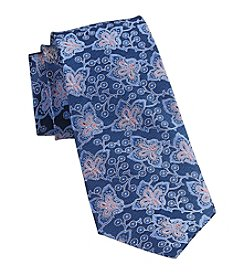 Rochester Men's Big & Tall Paisley Silk Tie