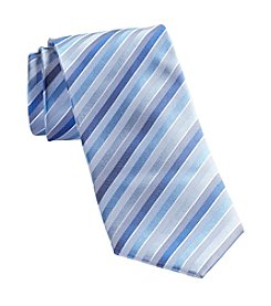 Synrgy Men's Big & Tall White Stripe Tie