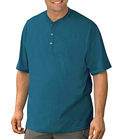 Harbor Bay® Men's Big & Tall Solid Henley