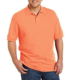 Harbor Bay® Men's Big & Tall 1 Pocket Pique Polo