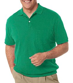Harbor Bay® Men's Big & Tall 1 Pocket Banded Bottom Polo