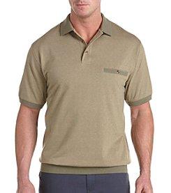 Harbor Bay® Men's Big & Tall Tonal Argyle Banded Bottom Polo Shirt